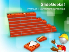 Construction Of Building PowerPoint Templates Ppt Backgrounds For Slides 0513
