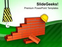 Construction Site Is Dangerous Place PowerPoint Templates Ppt Backgrounds For Slides 0613