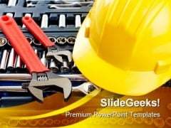 Construction Tools Business PowerPoint Themes And PowerPoint Slides 0711
