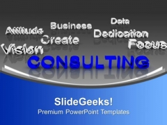 Consulting At Forefront Business Focus Concept PowerPoint Templates Ppt Backgrounds For Slides 1212