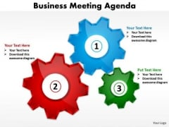Consulting Diagram Business Meeting Agenda Strategic Management