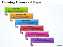 Consulting Diagram Planning Process With 6 Stages Strategy Diagram