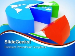 Continent Pie Chart Global PowerPoint Templates And PowerPoint Backgrounds 0611