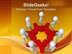 Cooperating Team Business Concept PowerPoint Templates Ppt Backgrounds For Slides 0513