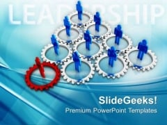 Cooperating Team Leadership Concept PowerPoint Templates Ppt Backgrounds For Slides 0513