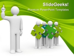 Cooperation And Development Business PowerPoint Themes And PowerPoint Slides 0711