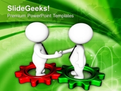 Cooperation Between Two Teams Business Growth PowerPoint Templates Ppt Backgrounds For Slides 0613