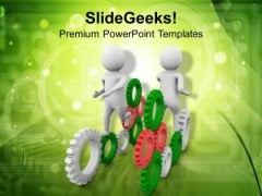 Coordination To Complete Task PowerPoint Templates Ppt Backgrounds For Slides 0513