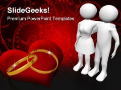 Couple And Rings Wedding PowerPoint Templates And PowerPoint Backgrounds 0311