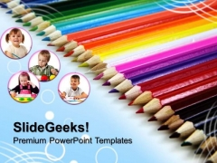 Crayons Education PowerPoint Templates And PowerPoint Themes 0512