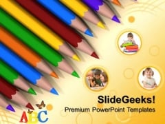 Crayon powerpoint templates slides and graphics crayons on paper education powerpoint templates and powerpoint themes 0612 toneelgroepblik Images