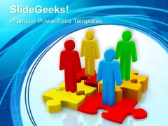 Create A Team Of Skilled People PowerPoint Templates Ppt Backgrounds For Slides 0613