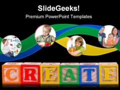 Create Isolated Education PowerPoint Template 1110