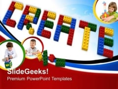 Create Lego Blocks Learning Education PowerPoint Templates And PowerPoint Themes 0612