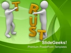 Create Trust With Your Clients PowerPoint Templates Ppt Backgrounds For Slides 0513