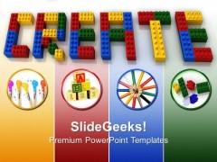 Create Word Lego Blocks Business PowerPoint Templates And PowerPoint Themes 0712