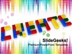 Create Word With Lego Blocks Education PowerPoint Templates And PowerPoint Themes 1012
