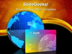Credit Card And Earth Global PowerPoint Templates And PowerPoint Backgrounds 0311
