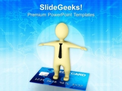 Credit Card Gives Freedom PowerPoint Templates Ppt Backgrounds For Slides 0813