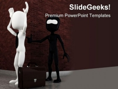 Criminal Robbing Man Business PowerPoint Themes And PowerPoint Slides 0311