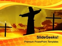 Cross And Jesus Christianity PowerPoint Templates And PowerPoint Themes 0912