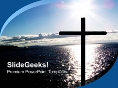 Cross Over Water Christian PowerPoint Templates And PowerPoint Themes 0712