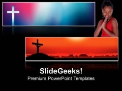 Cross Prayers Christian PowerPoint Templates And PowerPoint Themes 0712