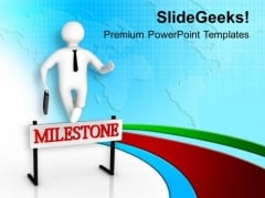 Crossing A Hurdle Milestones PowerPoint Templates Ppt Backgrounds For Slides 0613