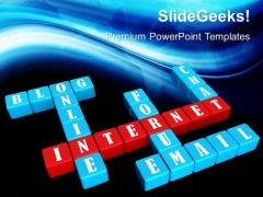 Crossword Internet Business PowerPoint Templates And PowerPoint Themes 0512