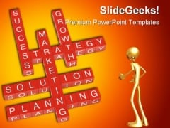 Crossword Marketing Business PowerPoint Background And Template 1210