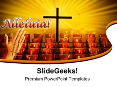 Crucifix With Hands Religion PowerPoint Templates And PowerPoint Backgrounds 0311