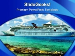 Cruise Ship Holidays PowerPoint Backgrounds And Templates 1210