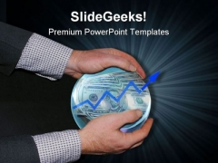 Crystal Ball Showing Success Business PowerPoint Themes And PowerPoint Slides 0611