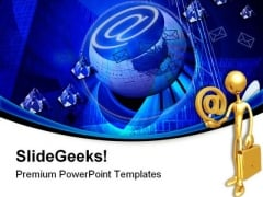 Crystal Clear Internet Technology PowerPoint Templates And PowerPoint Backgrounds 0611
