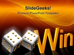 Cube Win Business PowerPoint Themes And PowerPoint Slides 0211