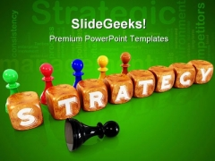 Cubes Strategy Communication PowerPoint Backgrounds And Templates 0111