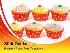 Cupcake Muffins Food PowerPoint Templates And PowerPoint Backgrounds 0211