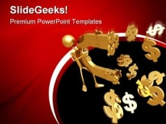 Currency With Magnet Money PowerPoint Themes And PowerPoint Slides 0711