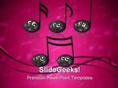 Cute Music Notes Entertainment PowerPoint Themes And PowerPoint Slides 0311