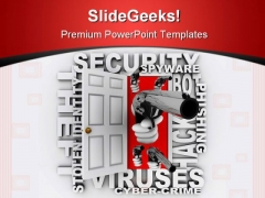 Cyber Crime Security PowerPoint Templates And PowerPoint Backgrounds 0411