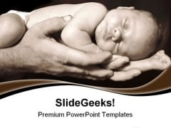 Daddy Hands Children PowerPoint Themes And PowerPoint Slides 0511