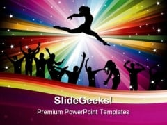 Dance Music Abstract PowerPoint Themes And PowerPoint Slides 0811