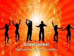 Dancers Music PowerPoint Themes And PowerPoint Slides 0711