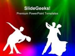 Dancing Couple Background PowerPoint Themes And PowerPoint Slides 0411