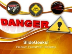 Danger Sign PowerPoint Templates And PowerPoint Themes 1012