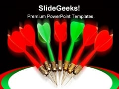Dart Arrows Business PowerPoint Themes And PowerPoint Slides 0611