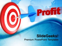 Dart Hitting Target Business PowerPoint Templates And PowerPoint Themes 0612