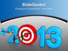 Dart Hook Target New Year Challenge PowerPoint Templates Ppt Backgrounds For Slides 0113