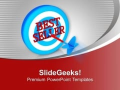 Dart With Jackpot For Best Seller Award PowerPoint Templates Ppt Backgrounds For Slides 0313