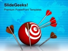 Darts And Target Global Business Strategy PowerPoint Templates Ppt Backgrounds For Slides 0313